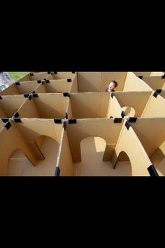 fort out of cardboard boxes and duct tape for kids. :)
