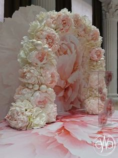 Wall Diy Photo Backdrop Ideas Ideas For 2019 Diy Photo Backdrop, Diy Wedding Backdrop, Floral Backdrop, Wedding Decorations, Backdrop Ideas, Paper Flower Wall, Crepe Paper Flowers, Paper Flower Backdrop, Arco Floral