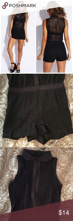 Black mesh netting sheet romper It's a reposh! Bottom is a bit snug on my hips. Otherwise, super cute! Only tried on. Will wash before sending. Included the original description. OVI Other