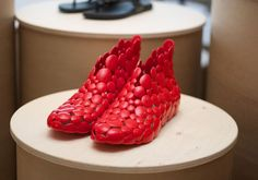 cut away shoes have finally hit gift shows in the US.  a very cool concept, if they are in fact comfy.