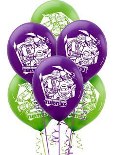 Teenage Mutant Ninja Turtles Balloons 12in 6ct - Party City