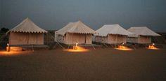 Romantic desert camping in Jaisalmer, India