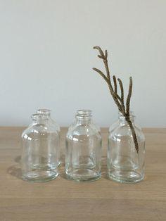 Tiny Glass Bottles - Set/6 | Lostine