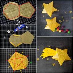 Origami for Everyone – From Beginner to Advanced – DIY Fan Diy Gifts Cute, Diy Gift Box, Diy Box, Gift Boxes, Origami Paper, Diy Paper, Paper Crafting, Origami Folding, 3d Paper Star