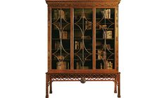 Irish Chinese Chippendale Mahogany Cabinet by Stately Homes - 5095 | Baker Furniture