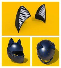 neko helmet des casques de moto adorables avec des oreilles de chat image casque de moto. Black Bedroom Furniture Sets. Home Design Ideas