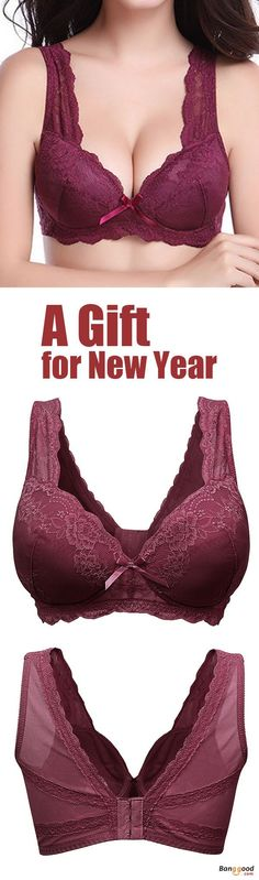 49ce9f8cfe Plus Size Sexy Wireless Lace Bra Gather Soft Thin Vest Bra For Women.  Wireless