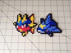 Pokemon Bead Sprite Set  Carvanha Family by ToughTurtles on Etsy, $5.50