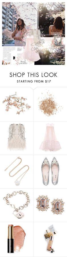 """cherry blossoms"" by pandacubcake ❤ liked on Polyvore featuring Canopy Designs, Anouska London Jewellery, Topshop, HUISHAN ZHANG, mizuki, Miu Miu, Tiffany & Co., Bobbi Brown Cosmetics, Memo Paris and Suzanne Kalan"