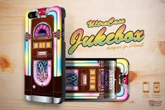 iPhone 5 Case iphone5 case Vintage Jukebox iPhone5 Hard Case Cover with front Skin.. $18.99, via Etsy.