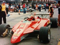Ferrari F1, Ferrari Scuderia, Gilles Villeneuve, Formula 1 Car, Motor Speedway, Power Cars, Nascar Racing, Car And Driver, Vintage Racing