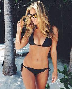x classic black string bikini. workout motivation