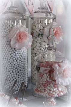 Pink & White Romantic Candy Table for Bridal Shower. Wedding & Event Planning/The Perfect Table Cape Cod