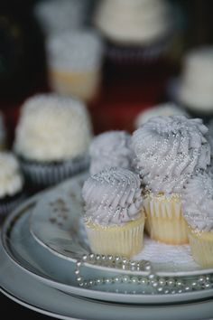 lavender cupcakes + pearls // photo by From the Hip, cupcakes by Gigi's Cupcakes Athens // View more: http://ruffledblog.com/the-notwedding-athens/