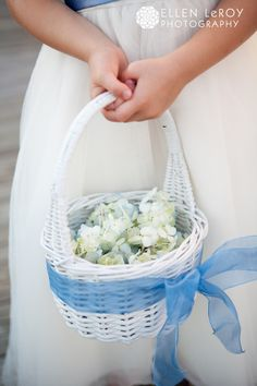 Flower Girl basket   Tildy Designs - blue wedding