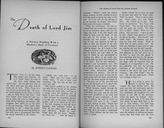"""P.202 and p.203 of """"The Proud Death of Lord Jim"""" in The Golden Book (September 1933)"""