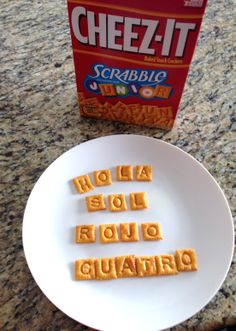Make words in Spanish using las galletas