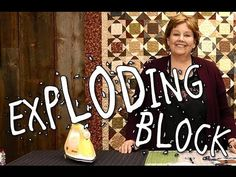 Jenny Doan demonstrates how to make a fabulous Exploding Block Quilt using Butter Pecan and Jefferson County Layer Cakes by Whistler Studios for Windham Fabrics. Or, check out our entire website here! Jenny Doan Tutorials, Msqc Tutorials, Quilting Tutorials, Patchwork Quilting, Quilting Tips, Quilting Projects, Missouri Quilt Tutorials, Patch Aplique, Easy Quilts