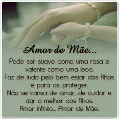 Amor de mãe! Word 3, Special Words, Unconditional Love, Love You, My Love, Family Love, Positive Affirmations, My Children, Wise Words