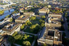 Aerial view of campus. #UMN #UMNcampus