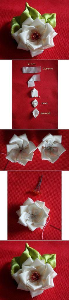 Layered ribbon rose