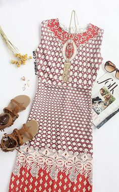 This chic beauty is perfect for the bright summer sun! In a great stretchy fabric, this Sleeveless Tribal Print Maxi Dress is super soft and comfy. Get you in with this unique one!