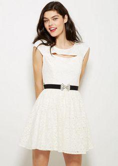 Cutout Lace Party Dress