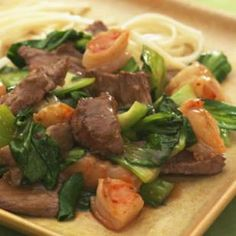 Spicy Beef with Shrimp  Bok Choy