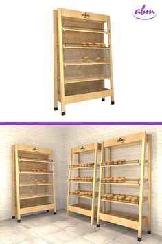 Regał z naturalnego drewna o wysokich wartościach estetycznych i użytkowych. Zaprojektowany został z myślą o sklepach ekologicznych oraz do wydzielania i aranżacji stref EKO w sklepach spożywczych. Przeznaczony do eksponowania bio produktów w opakowaniach – głównie pieczywa. #bakerycafe #piekarnia #storedesign #design #store #interior #furnituredesigner #wystrojwnetrz #showroom #retrostyle #polishdesign #meble #galleryart #furnituredesign #interiordesign