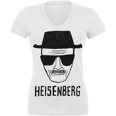 Breaking Bad - Heisenberg Sketch Juniors V-Neck T-Shirt