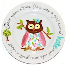 I love anything with owls, but I especially love plates painted by Timree!  She paints with pizazz! :)