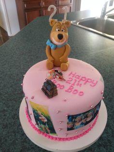 Yogi Bear 21st Cake - Yogi created by Karen @ Frangipani Cakes