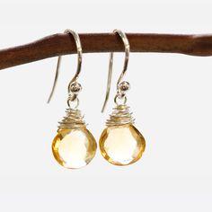 Citrine Wire Earrings