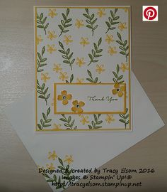 Thank You Card Created Using The FREE What I Love Stamp Set From Stampin