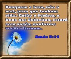 Salmos - Proverbios e passagens da Bíblia: Amós 5:14
