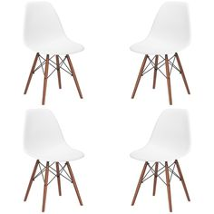 Vortex Side Chair with Walnut Legs (Set of 4) | Overstock.com Shopping - The Best Deals on Dining Chairs