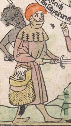 Heidelberger Bilderkatechismus' (Handschrift) ; Biblia pauperum (Blockbuch) ; Totentanz (Blockbuch) u.a. Ostmitteldeutschland, um 1455/1458 Cod. Pal. germ. 438  Folio 165v