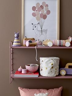 For small bookworms, the Bookcase Bookshelf by is the perfect … – Bookcase and pallet decoration ideas Kids Wall Shelves, Wall Bookshelves, Scandinavian Shelves, Mdf Frame, Kids Decor, Home Decor, Nursery Inspiration, Baby Room Decor, Adjustable Shelving