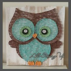 Hoot-tastic. Owl string art. Check out my other string art :)