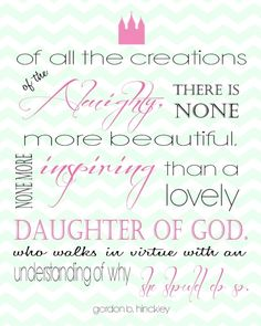 LDS Quote for young woman printable by sheena