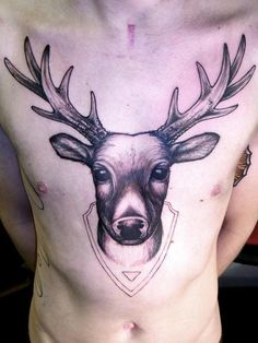 I've been considering some kind of wildlife-inspired tattoo for some time now. Personally, I'd like a lion, but I found this to be a pretty neat idea. Not everyone has a mounted deer head on their abdomen.