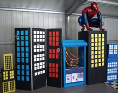 Check out Spiderman at a superhero birthday party! See more party ideas at CatchMyParty.com!