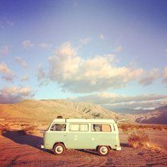 Vintage Volkswagen camper van, California :: Field Office
