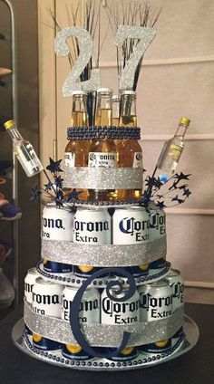 diy birthday presents for a budget presents . - diy birthday gifts on a budget - Beer Can Cakes, Beer Cakes Diy, Bolo Diy, Birthday Gifts For Boyfriend Diy, 21st Birthday Ideas For Guys, Birthday Gift For Husband, 21st Birthday Gifts For Boyfriend, 30th Birthday Party For Him, Husband Gifts