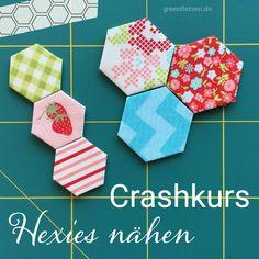 Tutorial | Hexies auf Hintergrundstoff applizieren - Modern Hexies (English Paper Piecing)