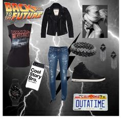 """""""Back to the Future"""" by emilieiscool ❤ liked on Polyvore"""
