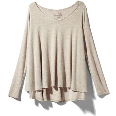 Free People Sunday Tee ❤ liked on Polyvore featuring tops, shirts, sweaters, long sleeved, blusas, oatmeal, longsleeve shirt, long sleeve tops, pink top and free people tops