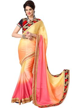 Fascinating Satin Party Wear Saree