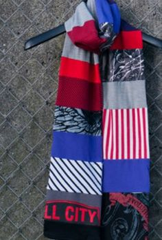 DIY Double Sided T- Shirt Quilt Scarf