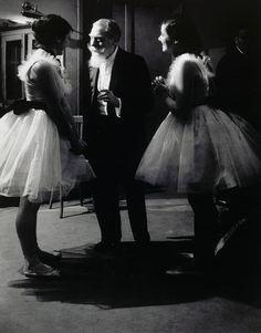 Brassaï 1899-1984  The Subscriber to the Opera Garnier and two Ballerinas, 1936-37